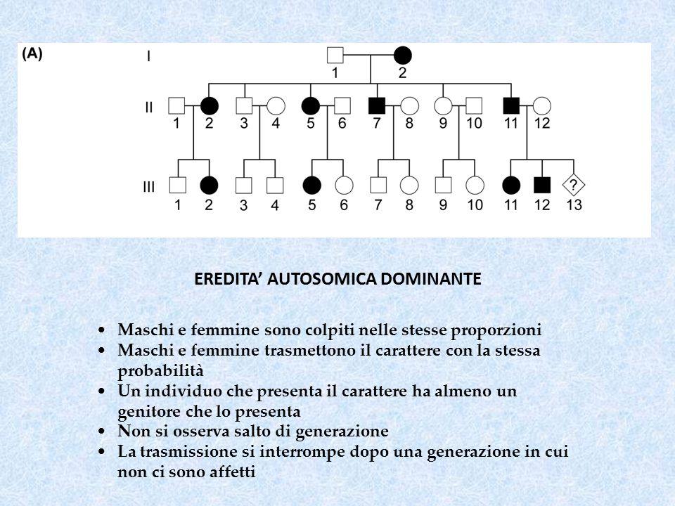  ESPRESSIVITA' VARIABILE individui portatori dello stesso allele malattia presentano caratteristiche cliniche e gravità diverse