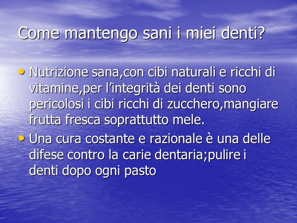 La dentatura e le sue malattie Gengiviti Gengiviti Sintomi: Sintomi: 1)colorazione rosso-scura delle gengive 1)colorazione rosso-scura delle gengive 2