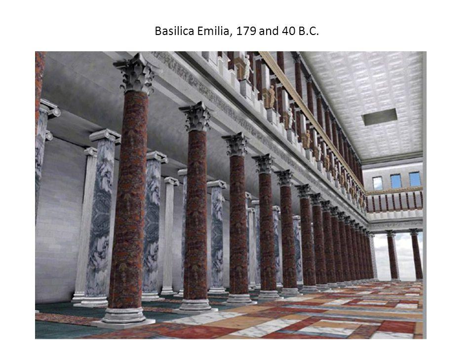 Basilica Emilia, 179 and 40 B.C.