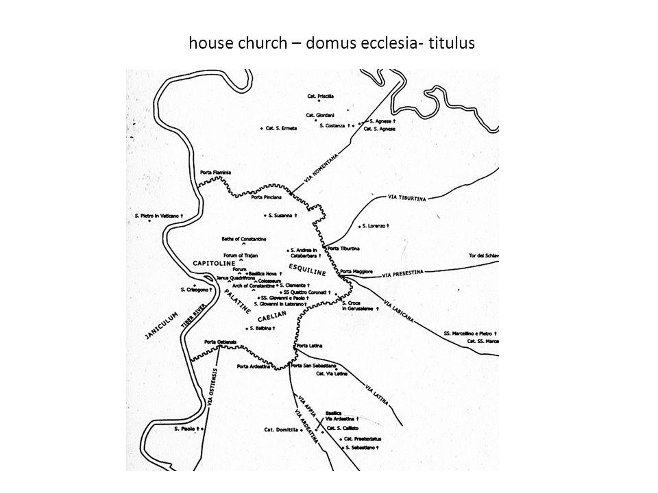 house church – domus ecclesia- titulus