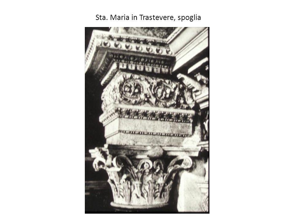 Sta. Maria in Trastevere, spoglia