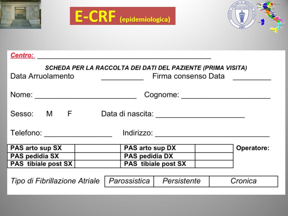 E-CRF (epidemiologica)