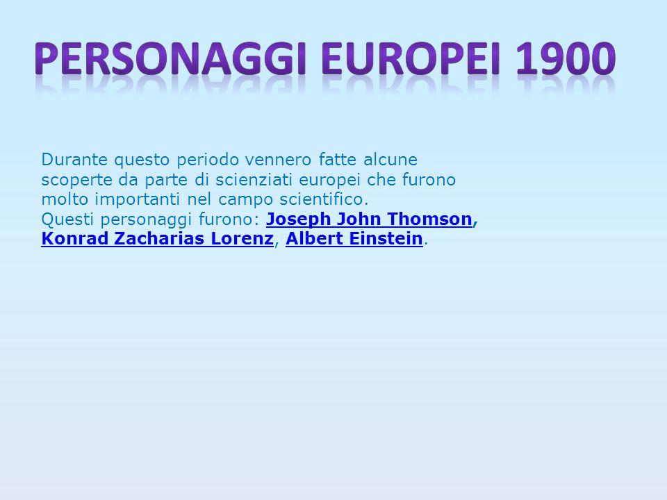 Durante questo periodo vennero fatte alcune scoperte da parte di scienziati europei che furono molto importanti nel campo scientifico.