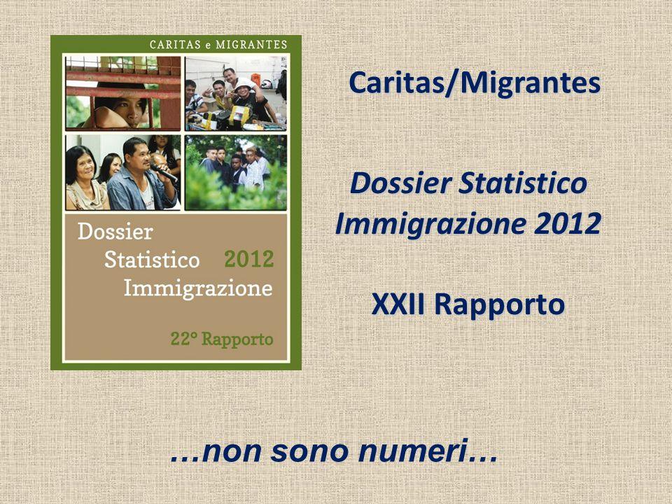 Dossier Statistico Immigrazione 2012 XXII Rapporto Caritas/Migrantes …non sono numeri…