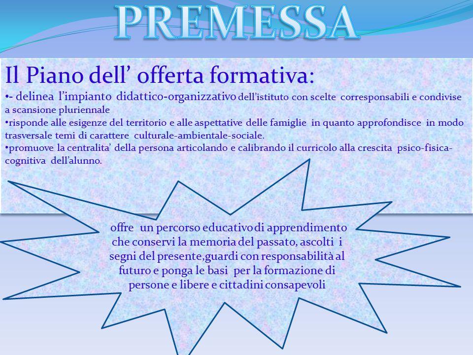-FESTA D'AUTUNNO (in collaborazione con Legambiente e vivai Calandrino); -PROGETTO SOLIDARIETA' ( pro Telethon,Camminare insieme, Ant, Fibrosi cistica); -PROGETTO EDUCARE ALLA LEGALITA' (in collaborazione con la Guardia di Finanza) -PROGETTO SEGUI LA ROTTA (in collaborazione con ANMI); -PROGETTO SANI (in collaborazione con ASL e GAL); -PROGETTO PERICOLI IN RETE (in collaborazione con gli esperti esterni : dott.