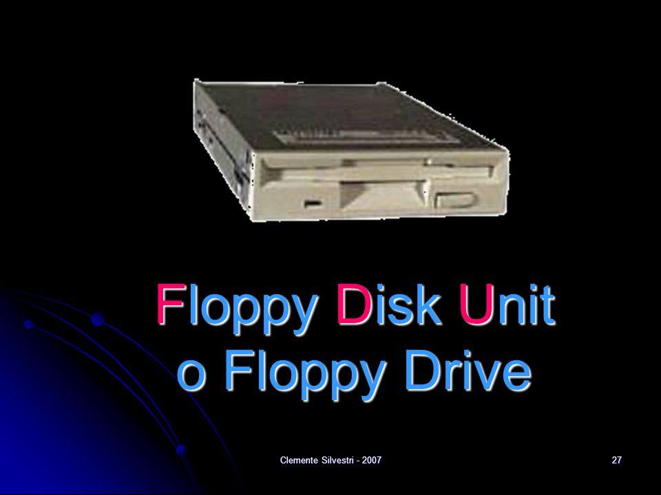 Clemente Silvestri - 200727 Floppy Disk Unit o Floppy Drive