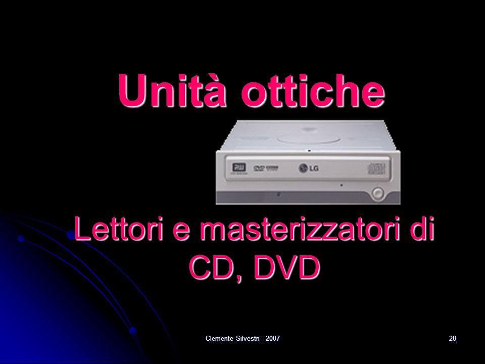 Clemente Silvestri - 200728 Unità ottiche Lettori e masterizzatori di CD, DVD