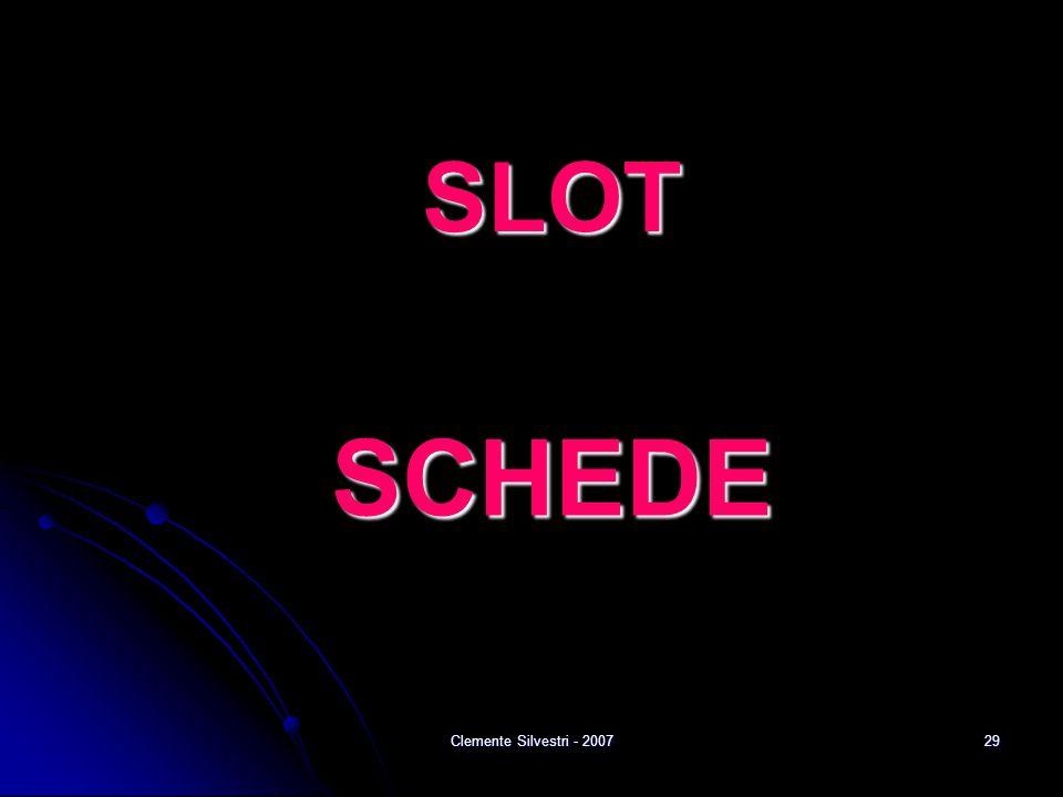 Clemente Silvestri - 200729 SLOT SCHEDE