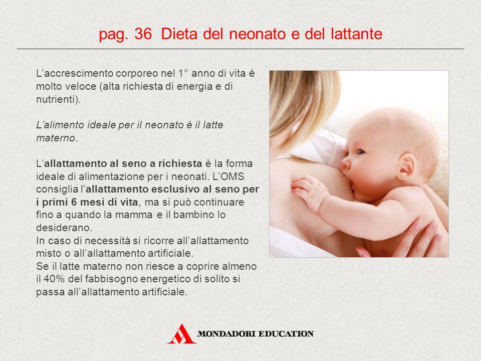 L'accrescimento corporeo nel 1° anno di vita è molto veloce (alta richiesta di energia e di nutrienti).