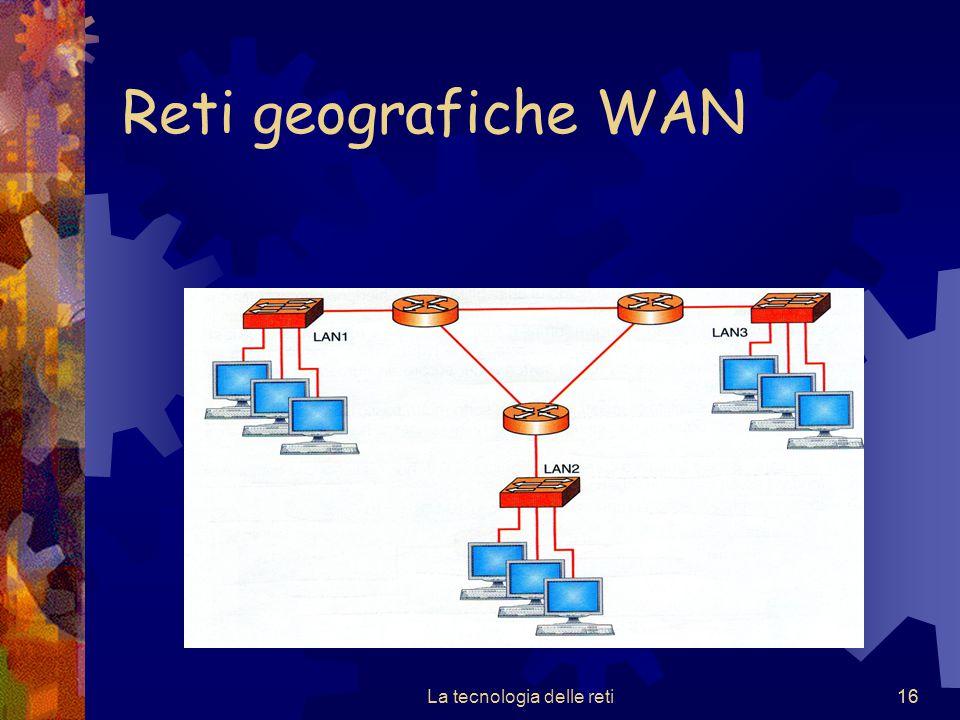 16 Reti geografiche WAN La tecnologia delle reti16