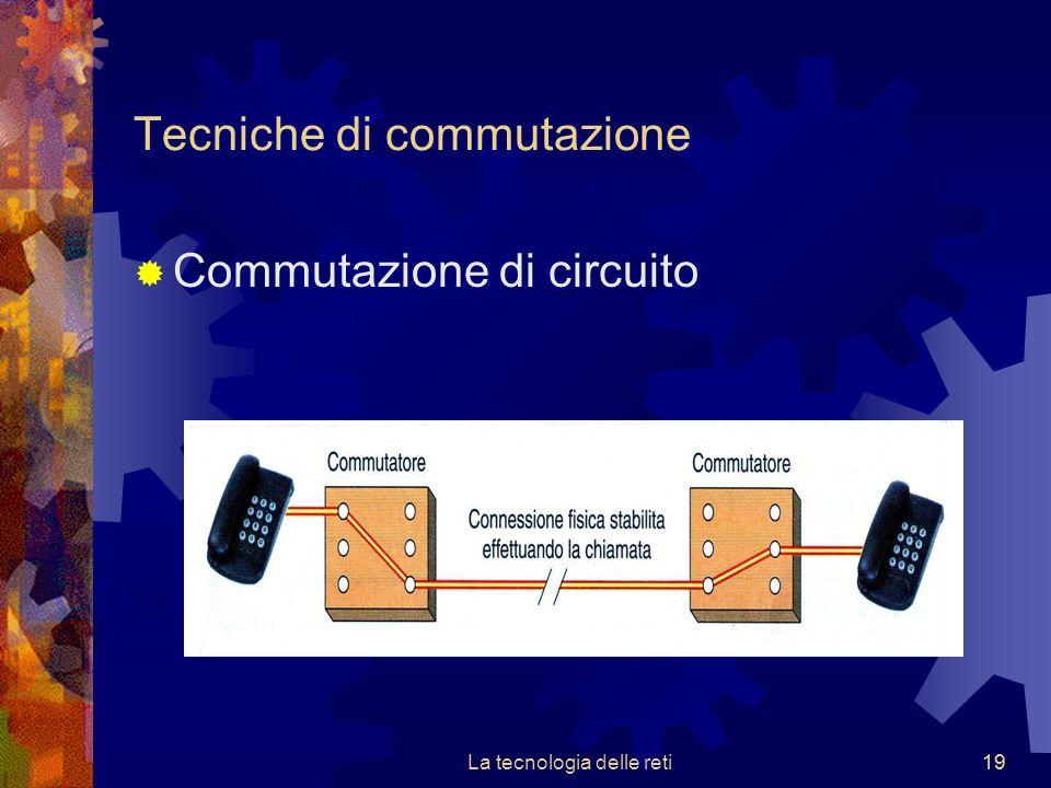 19 Tecniche di commutazione  Commutazione di circuito La tecnologia delle reti19