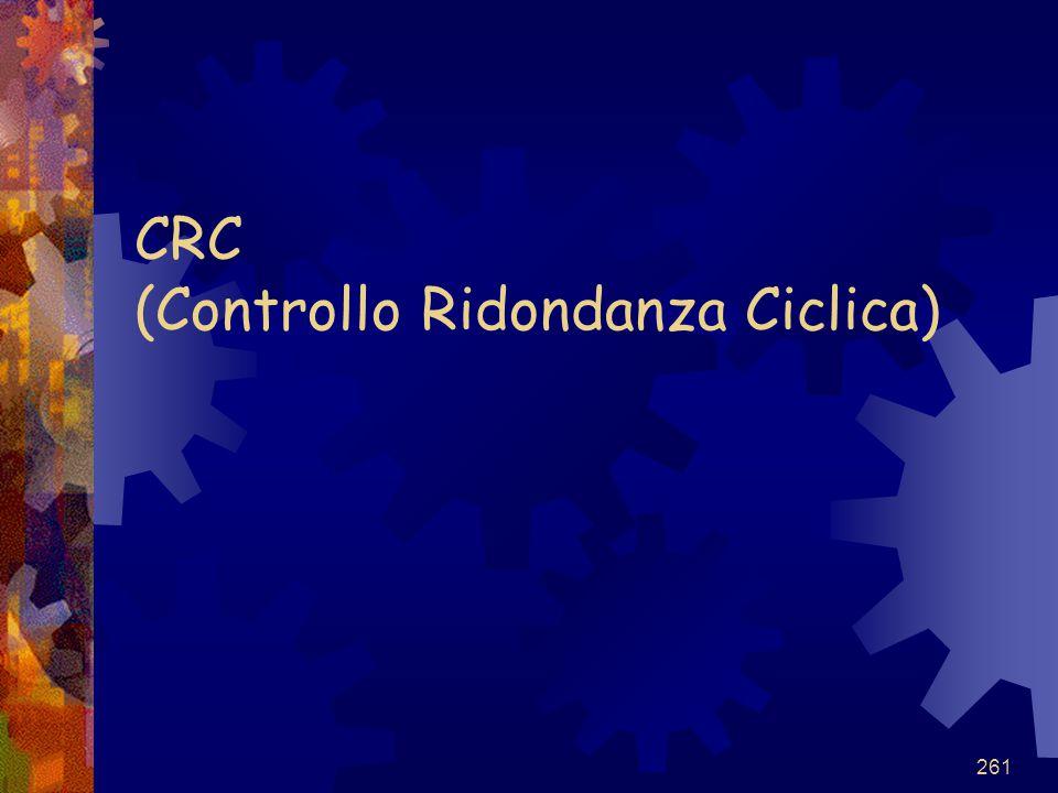 261 CRC (Controllo Ridondanza Ciclica)