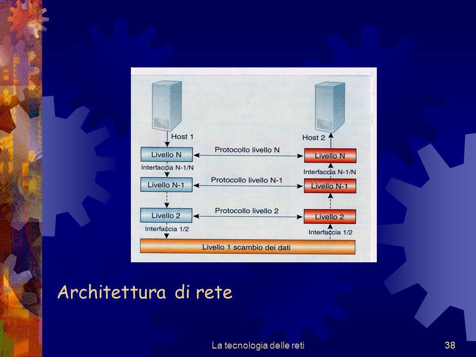 38 Architettura di rete La tecnologia delle reti38