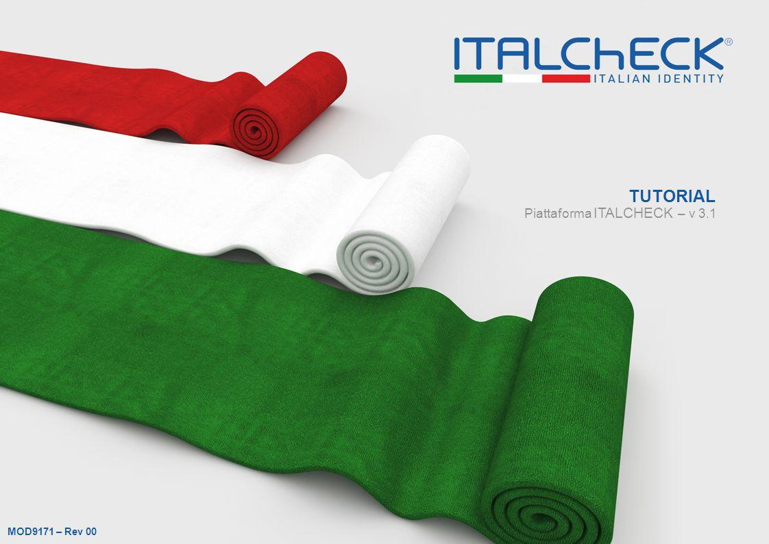 Piattaforma ITALCHECK – v 3.1 TUTORIAL MOD9171 – Rev 00