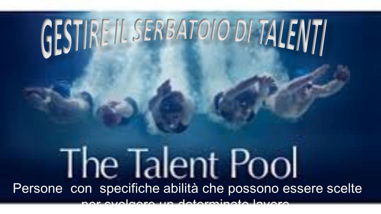 Talent pools, conosciuti anche come acceleration pools, sono gruppi di impiegati altamente specializzati che vengono formati per assumere maggiori responsabilità in un'area specifica.