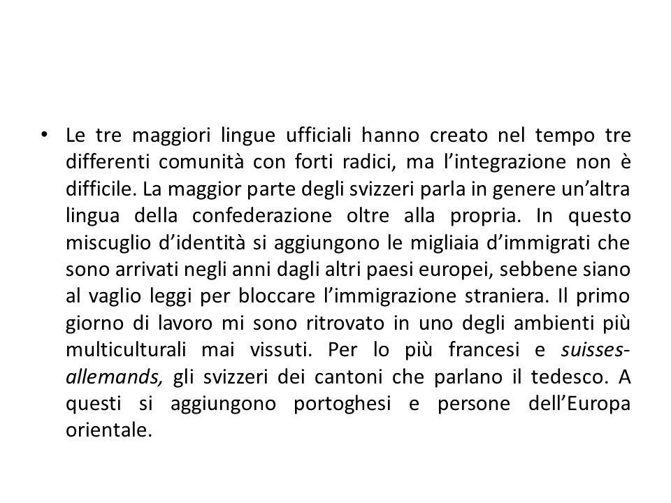 Inaspettatamente incontro anche un italiano , Silvio, nato a Basilea una cinquantina d'anni fa ma di origini salernitane, al quale d'italiano è rimasto il nome e qualche ricordo dei genitori.