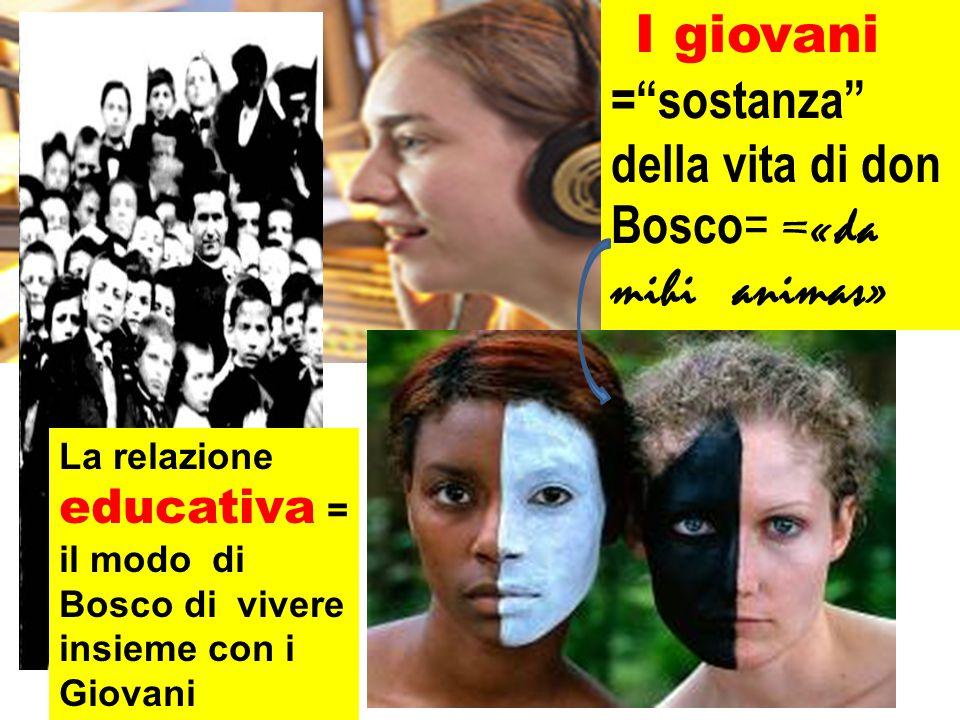 I giovani = sostanza della vita di don Bosco = =«da mihi animas» La relazione educativa = il modo di Bosco di vivere insieme con i Giovani