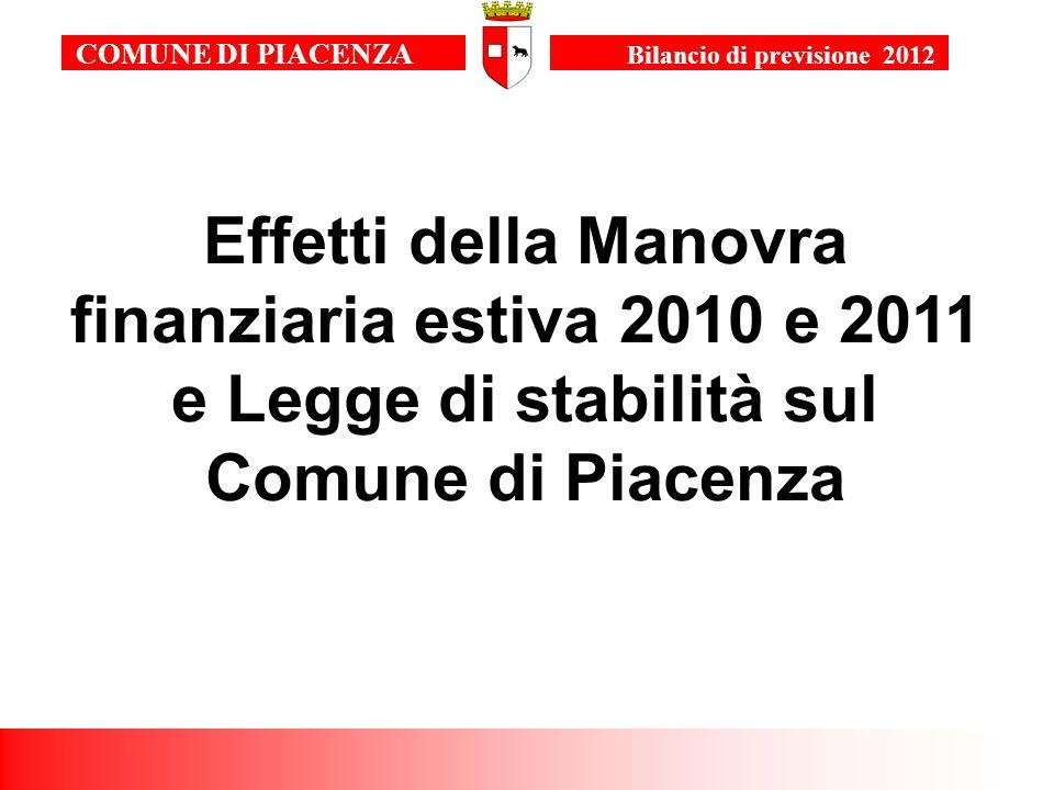 13 COMUNE DI PIACENZA Bilancio di previsione 2011 POLITICHE FISCALI E TARIFFARIE Conferma delle aliquote ICI e relative detrazioni.