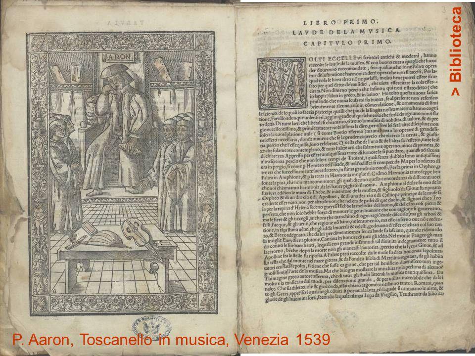 P. Aaron, Toscanello in musica, Venezia 1539