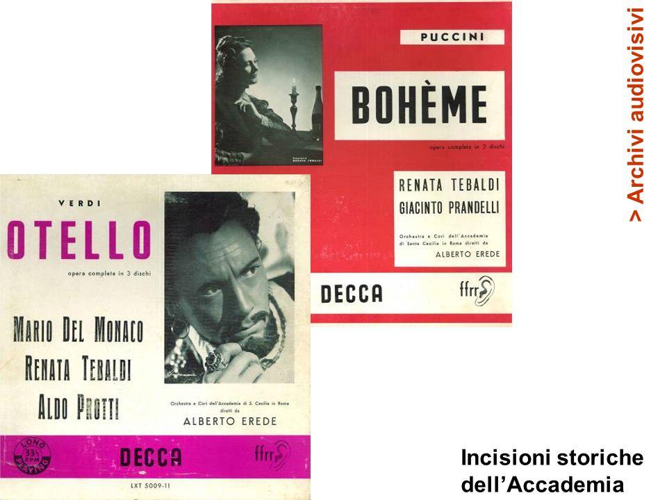 Incisioni storiche dell'Accademia > Archivi audiovisivi