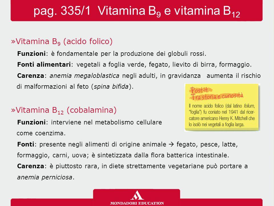 »Vitamina B 9 (acido folico) Funzioni: è fondamentale per la produzione dei globuli rossi.