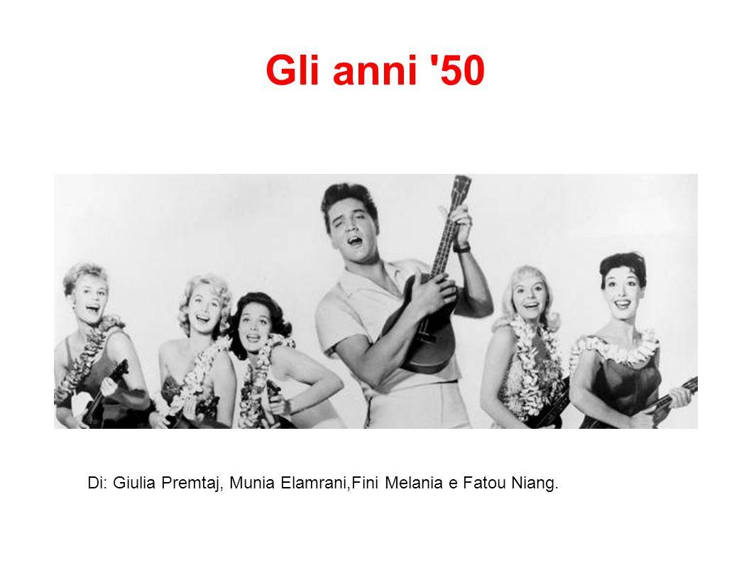 Gli anni '50 Di: Giulia Premtaj, Munia Elamrani,Fini Melania e Fatou Niang.
