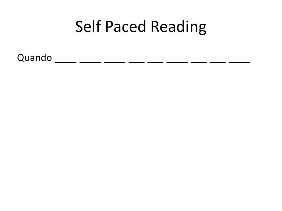 Self Paced Reading ____Vanessa ____ ____ ___ ___ ____ ___ ___ ____