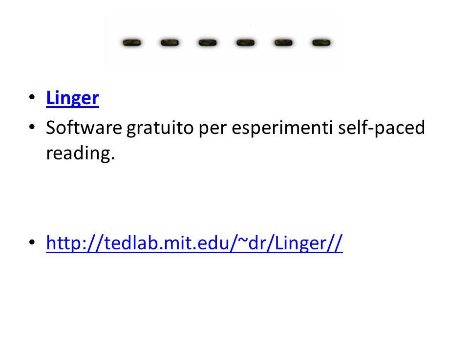 Software per condurre esperimenti