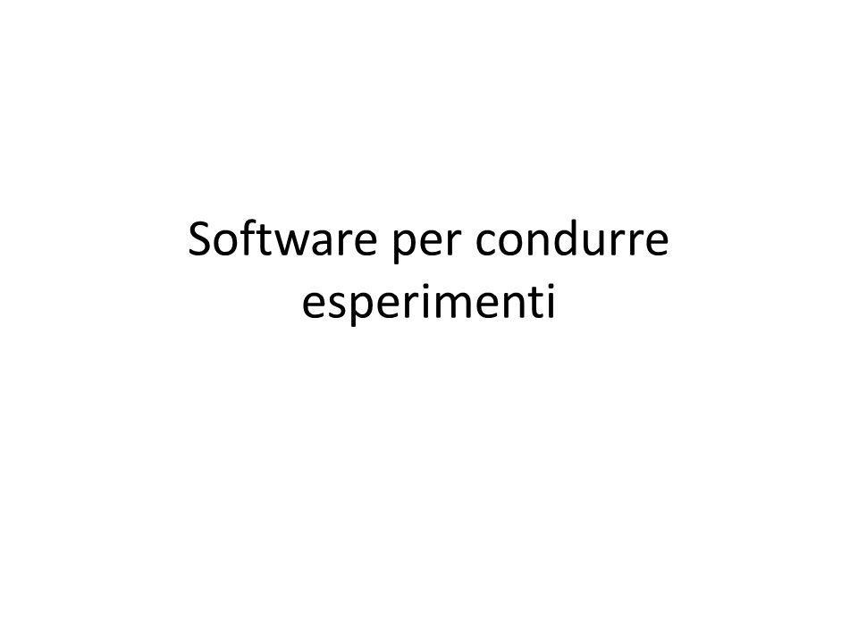 Software commerciali Presentation E-prime preparare lo script in e-prime e condurre l esperimento con e-run (free).