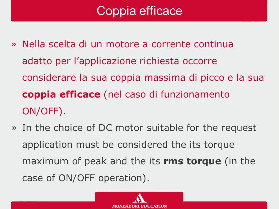 »Nella scelta di un motore a corrente continua adatto per l'applicazione richiesta occorre considerare la sua coppia massima di picco e la sua coppia