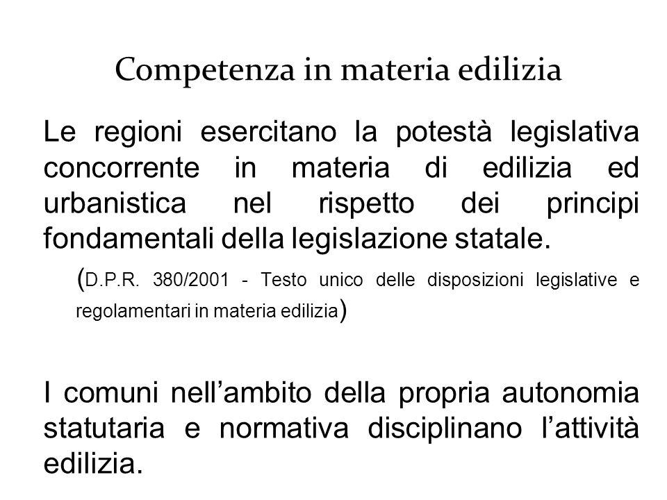 Le regioni esercitano la potestà legislativa concorrente in materia di edilizia ed urbanistica nel rispetto dei principi fondamentali della legislazione statale.
