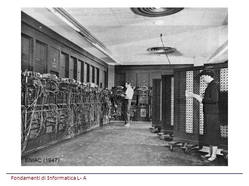 Fondamenti di Informatica L- A ARCHITETTURA DI UN ELABORATORE Ispirata al modello della Macchina di Von Neumann (Princeton, Institute for Advanced Study, anni '40).