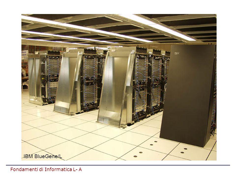 Fondamenti di Informatica L- A Registri di uso generale (A,B,C,...) Sono usati per contenere dati (in particolare, ope- randi/risultati di operazioni aritmetico/logiche) INTR AR DR control unit IR PC ALU Flag A B clock 2 REGISTRI
