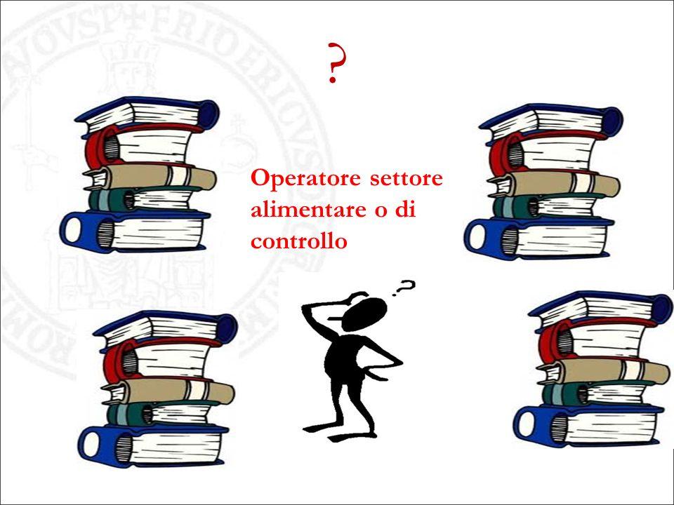 ? Operatore settore alimentare o di controllo