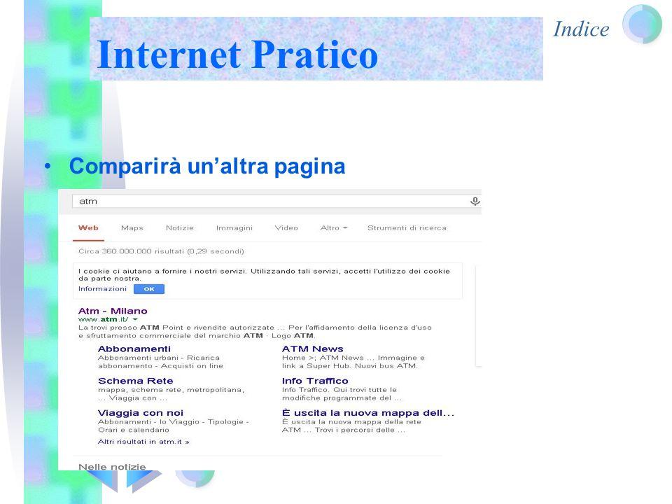 Indice Internet Pratico Comparirà un'altra pagina