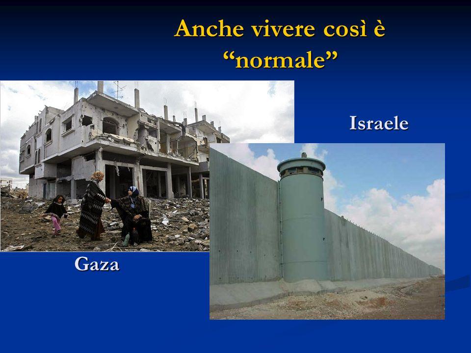 Anche vivere così è normale Israele Gaza