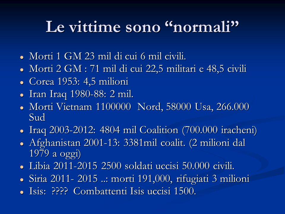 Le vittime sono normali Morti 1 GM 23 mil di cui 6 mil civili.