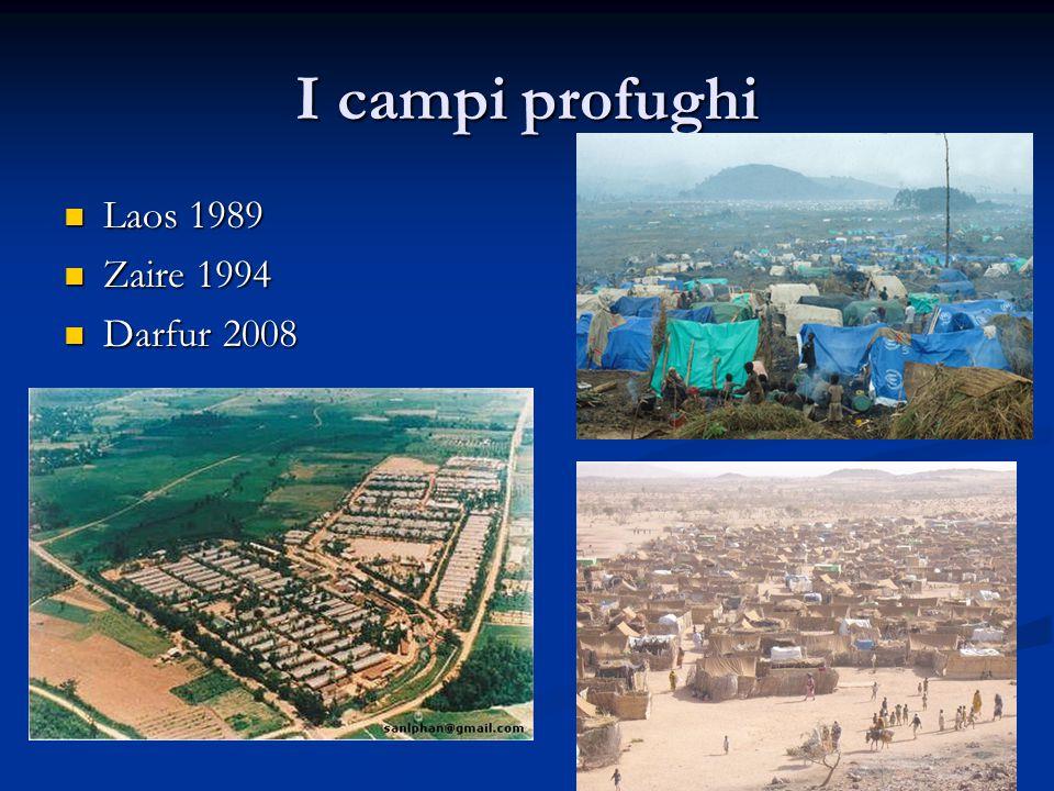 I campi profughi Laos 1989 Laos 1989 Zaire 1994 Zaire 1994 Darfur 2008 Darfur 2008
