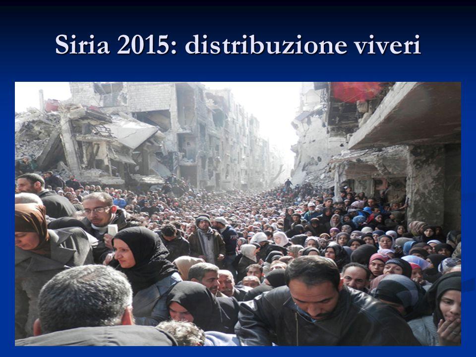 Siria 2015: distribuzione viveri