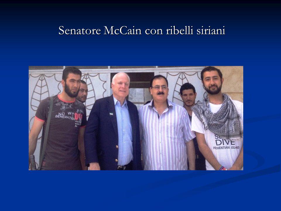 Senatore McCain con ribelli siriani