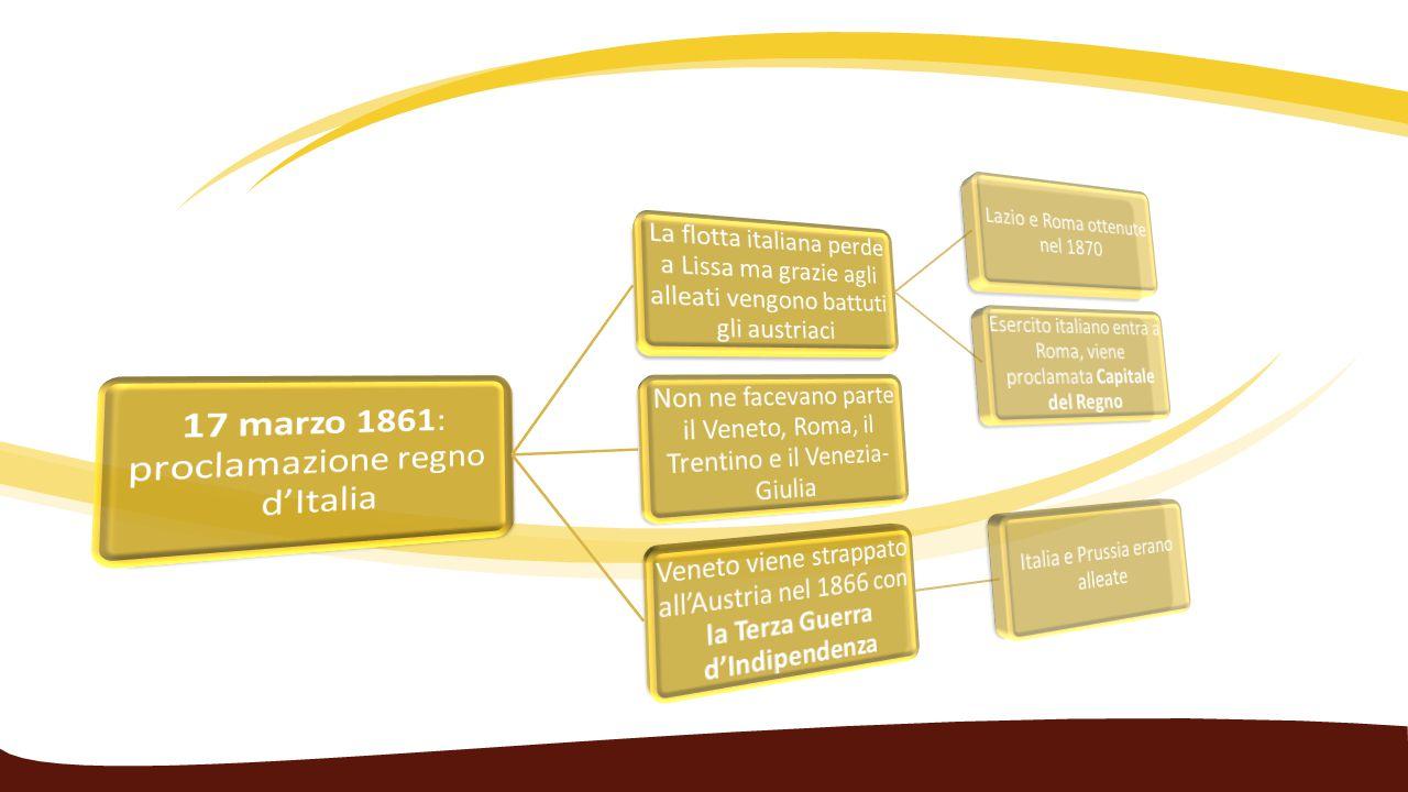Roma capitale – Breccia di Porta Pia Le condizioni favorevoli provocate dalla sconfitta della Francia nel conflitto prussiano rinvigorirono l'intenzione di conquistare i territori dello Stato pontificio La spedizione militare, guidata dal generale Raffaele Cadorna, il 12 settembre 1870 entrò in suolo pontificio e in pochi giorni arrivò a Roma senza intralci.