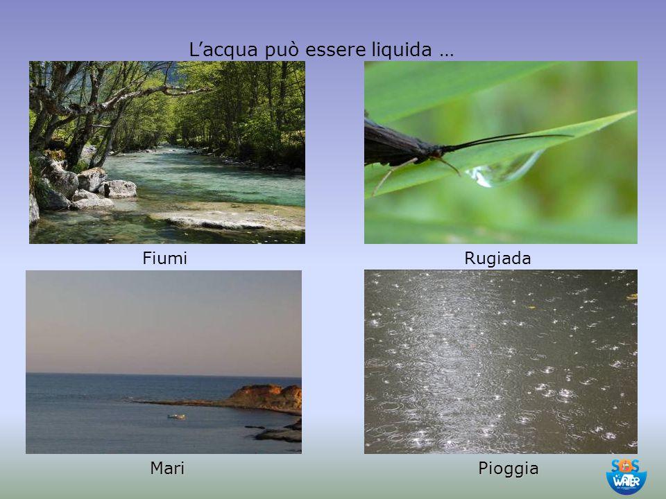 L'acqua può essere liquida … FiumiRugiada MariPioggia