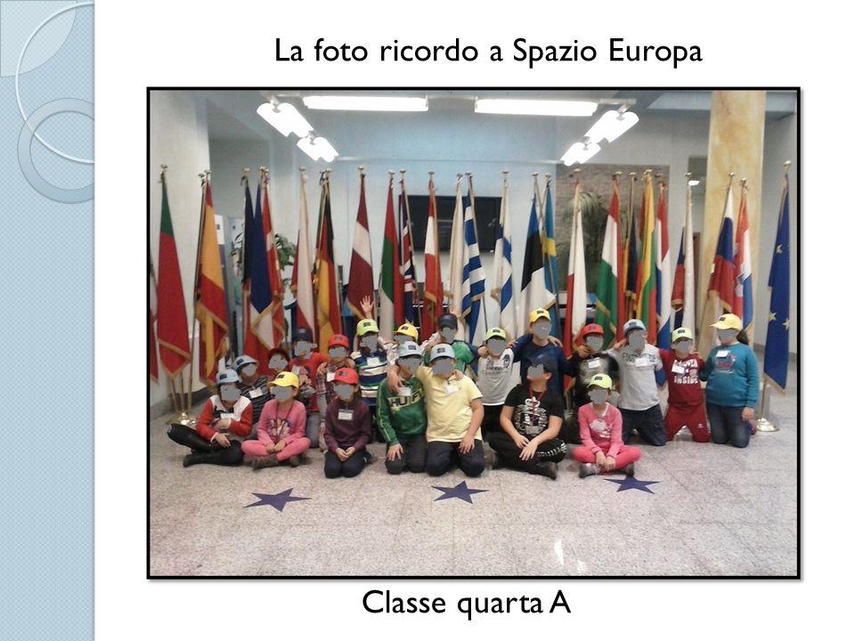 La foto ricordo a Spazio Europa Classe quarta A