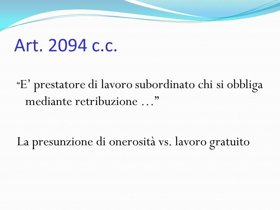 Tariffe di cottimo Art.2101 c.c.
