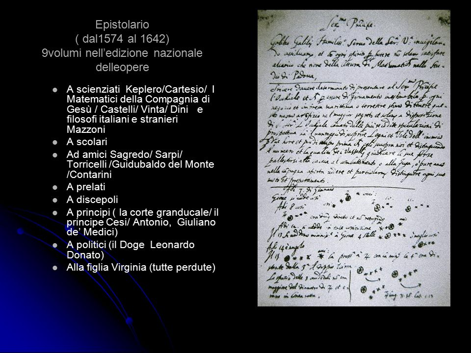 Epistolario ( dal1574 al 1642) 9volumi nell'edizione nazionale delleopere A scienziati Keplero/Cartesio/ I Matematici della Compagnia di Gesù / Castel