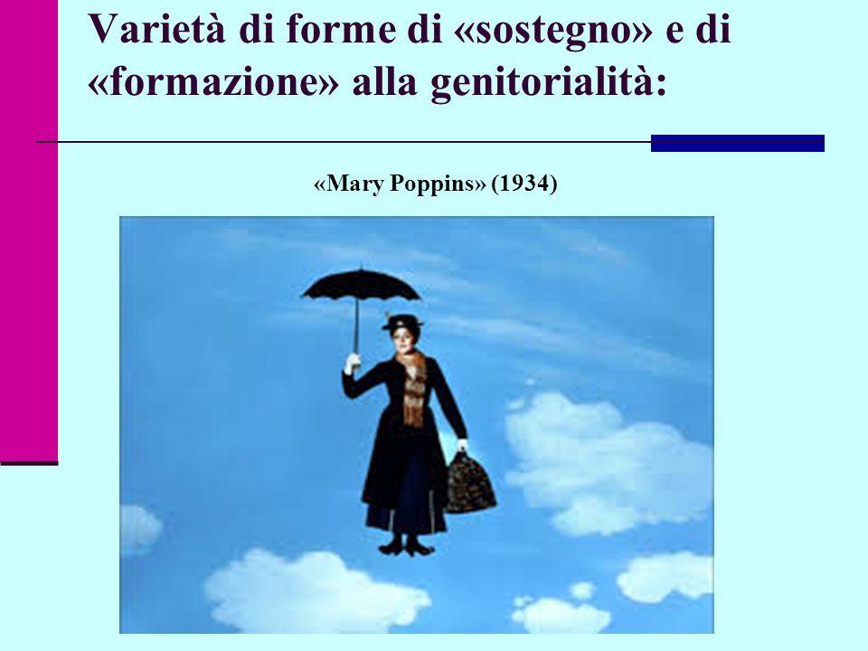 Varietà di forme di «sostegno» e di «formazione» alla genitorialità: «Mary Poppins» (1934) Dispense a solo uso didattico interno © Elena Marescotti 2014/2015