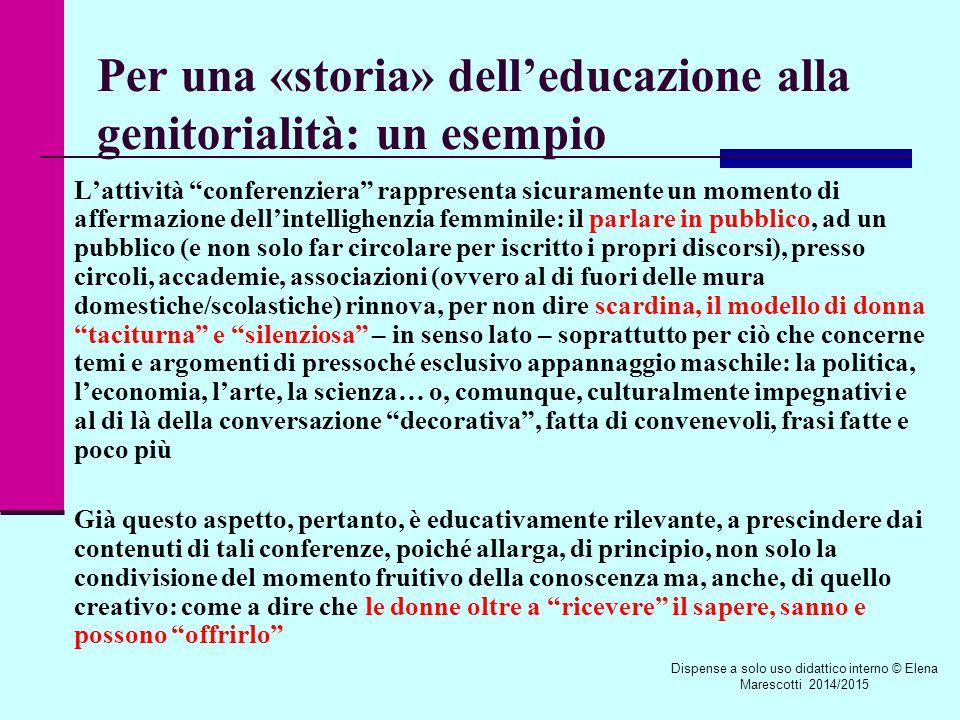 Le quattro «conferenze pedagogiche» di Emma Tettoni E.