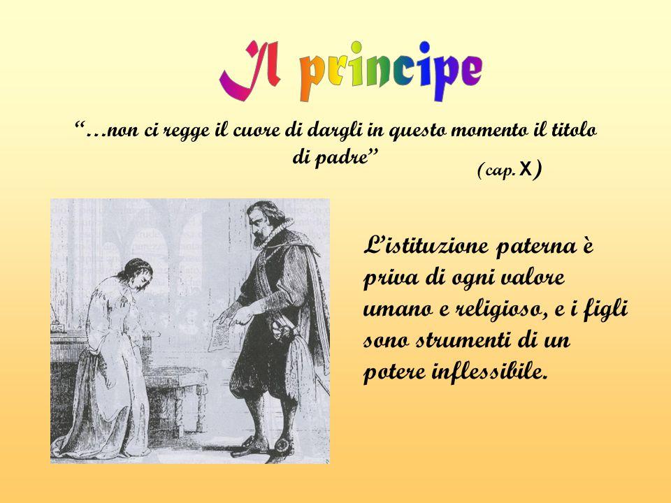L'istituzione paterna è priva di ogni valore umano e religioso, e i figli sono strumenti di un potere inflessibile.