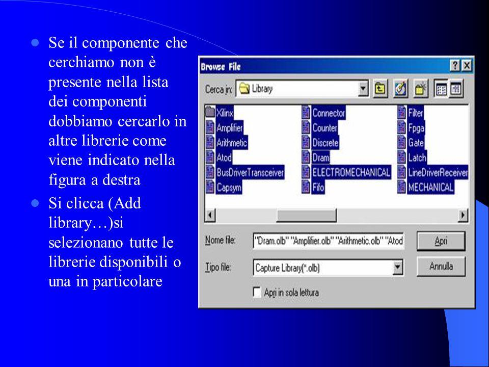 Controllo Errori Se il disegno e privo di errori passiamo alla net list altrimenti il si correggono gli errori che il software ci indica