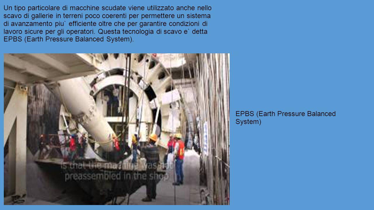 Un tipo particolare di macchine scudate viene utilizzato anche nello scavo di gallerie in terreni poco coerenti per permettere un sistema di avanzamento piu` efficiente oltre che per garantire condizioni di lavoro sicure per gli operatori.